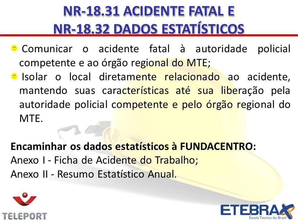 NR-18.32 DADOS ESTATÍSTICOS