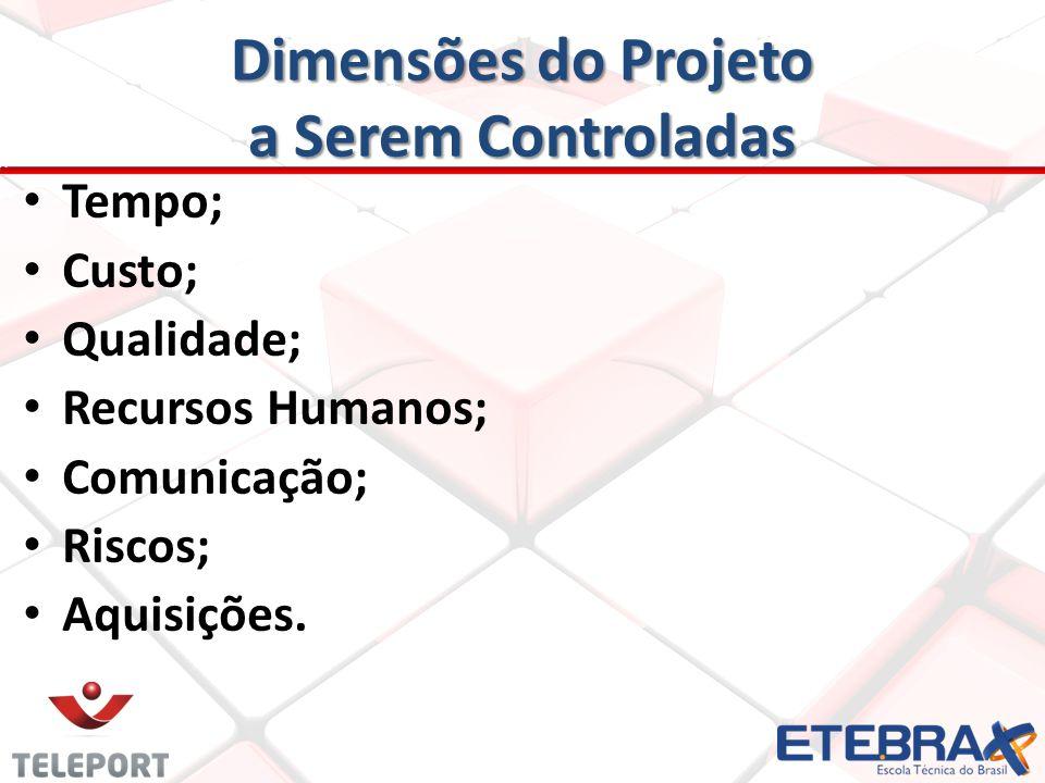 Dimensões do Projeto a Serem Controladas