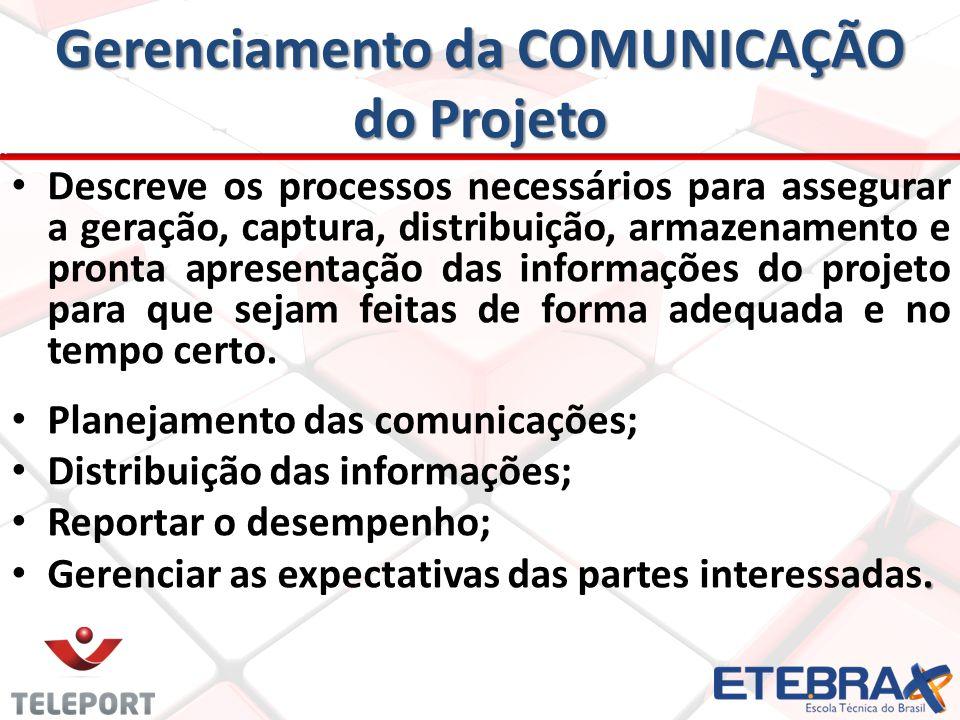 Gerenciamento da COMUNICAÇÃO do Projeto