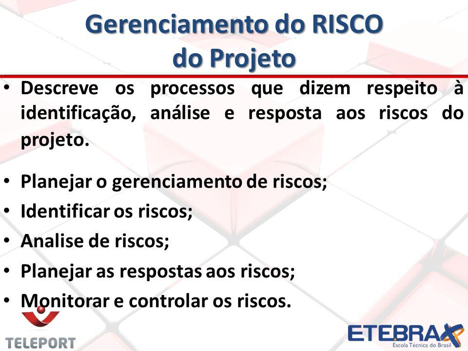 Gerenciamento do RISCO do Projeto