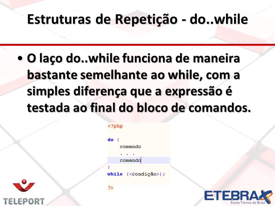 Estruturas de Repetição - do..while