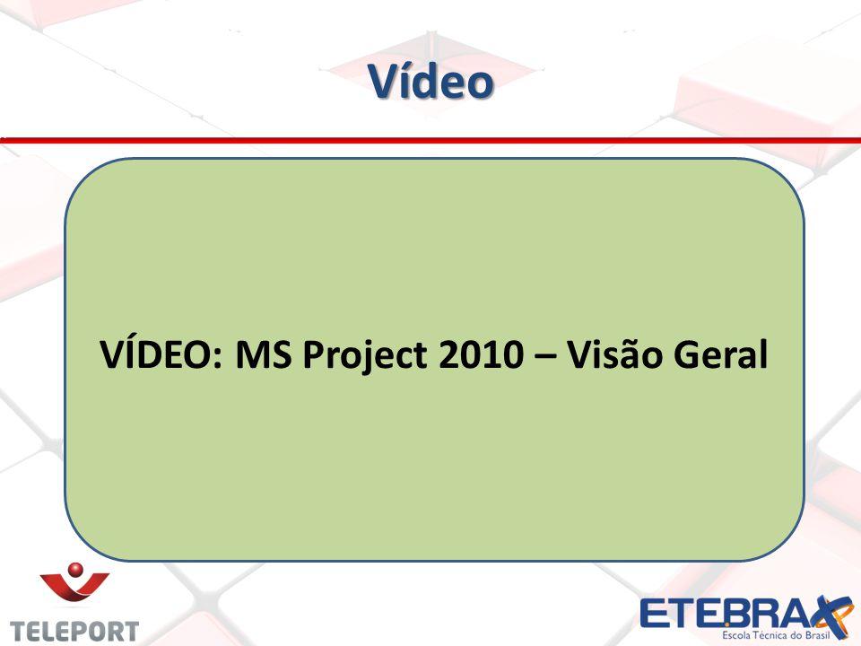 VÍDEO: MS Project 2010 – Visão Geral
