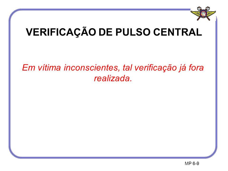 VERIFICAÇÃO DE PULSO CENTRAL