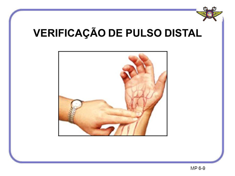 VERIFICAÇÃO DE PULSO DISTAL
