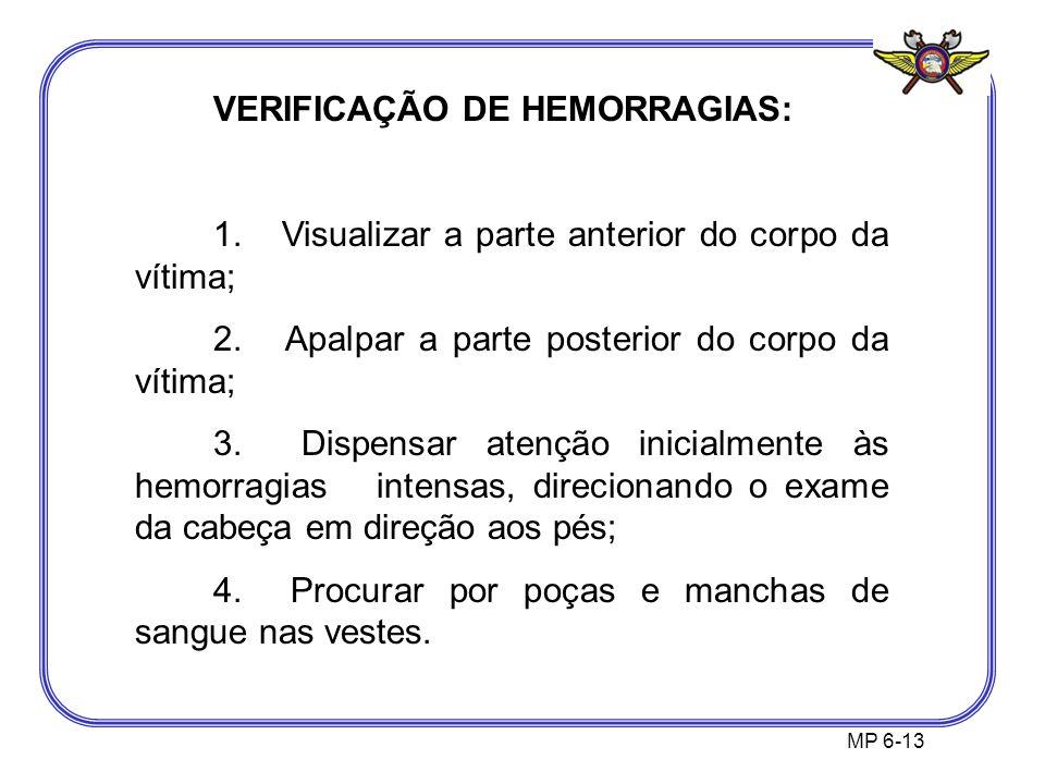 VERIFICAÇÃO DE HEMORRAGIAS: