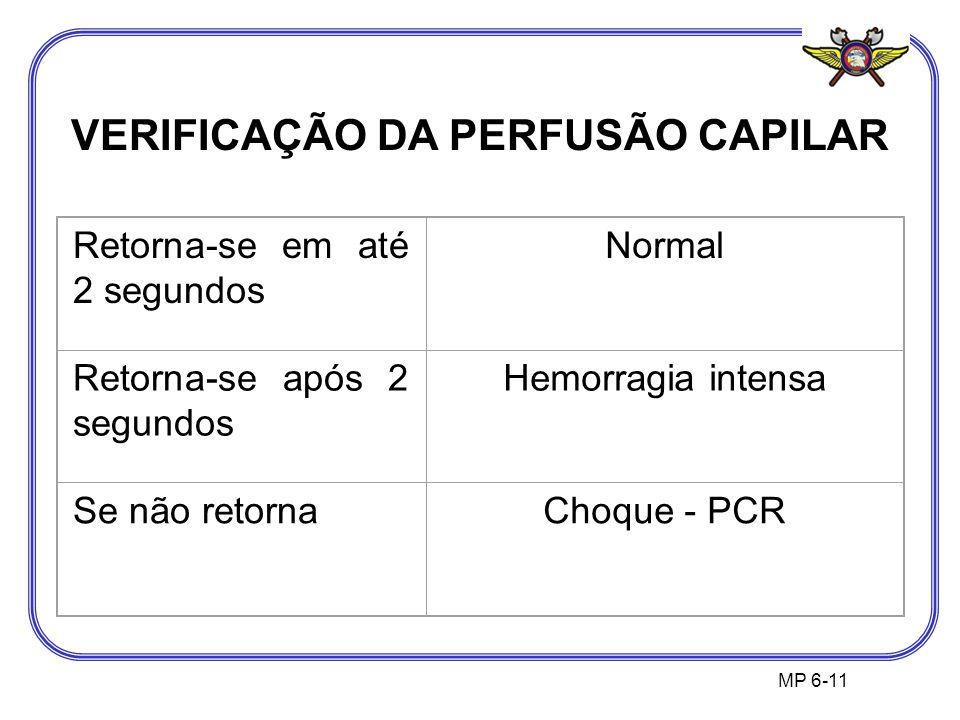 VERIFICAÇÃO DA PERFUSÃO CAPILAR