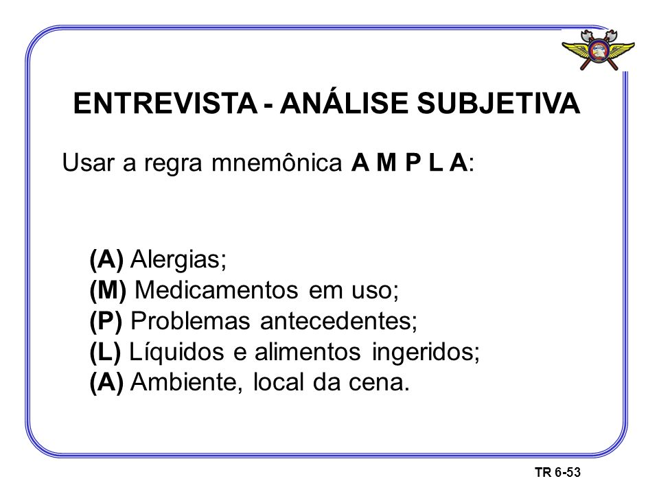 ENTREVISTA - ANÁLISE SUBJETIVA
