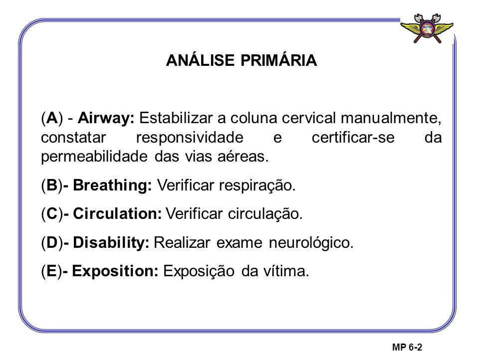 (B)- Breathing: Verificar respiração.