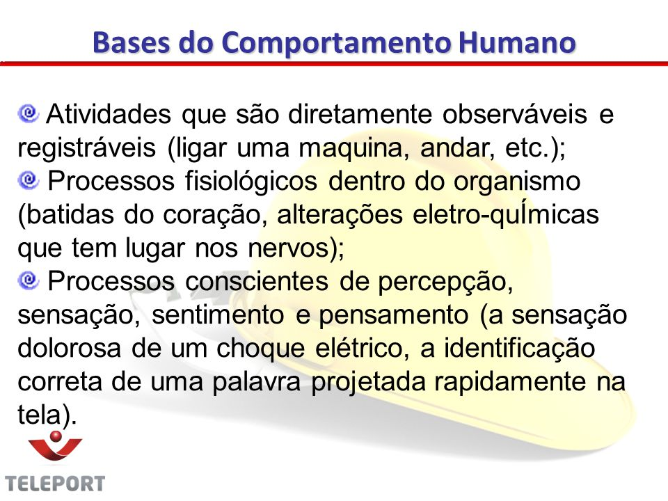 Bases do Comportamento Humano
