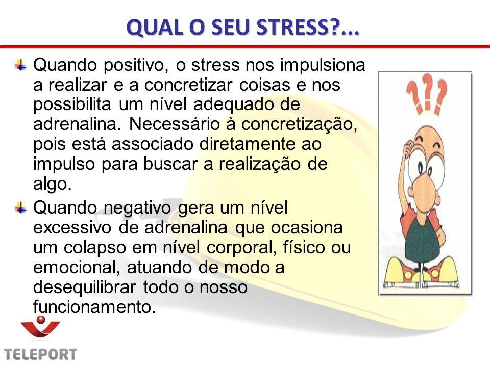 QUAL O SEU STRESS ...