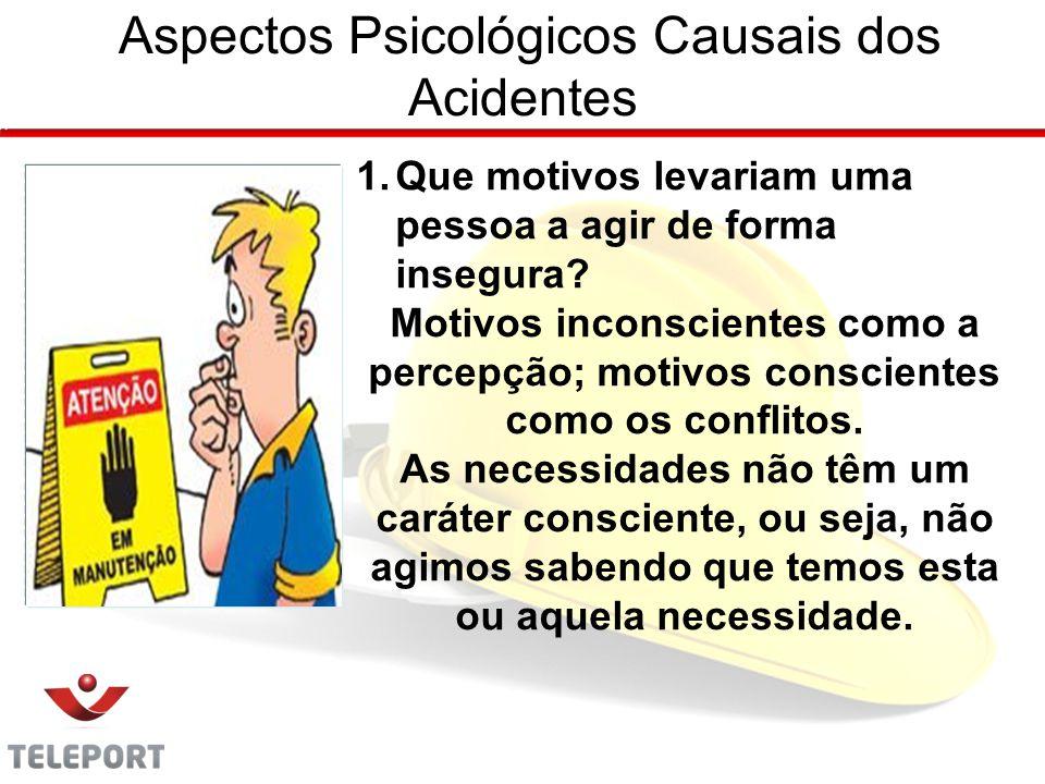 Aspectos Psicológicos Causais dos Acidentes