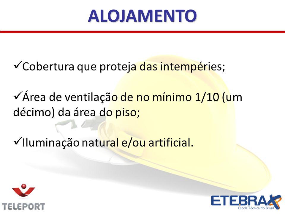 ALOJAMENTO Cobertura que proteja das intempéries;