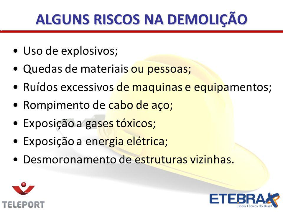 ALGUNS RISCOS NA DEMOLIÇÃO