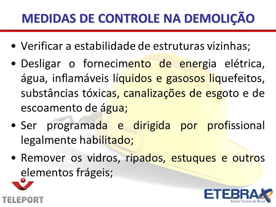 MEDIDAS DE CONTROLE NA DEMOLIÇÃO