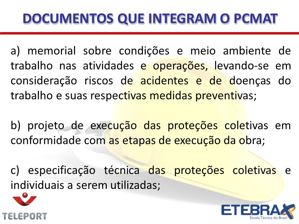 DOCUMENTOS QUE INTEGRAM O PCMAT