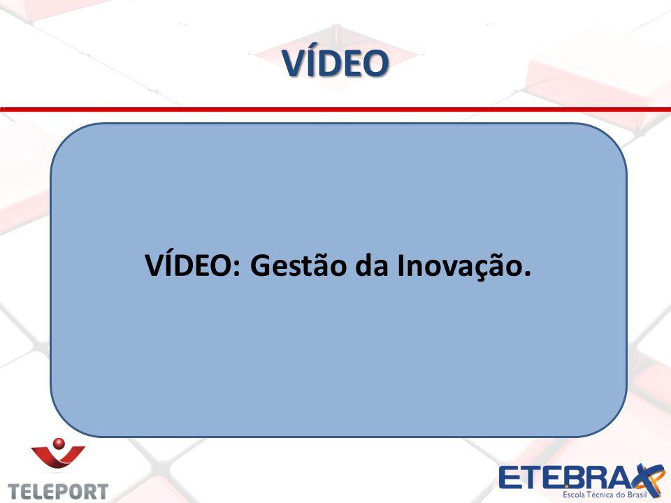 VÍDEO: Gestão da Inovação.