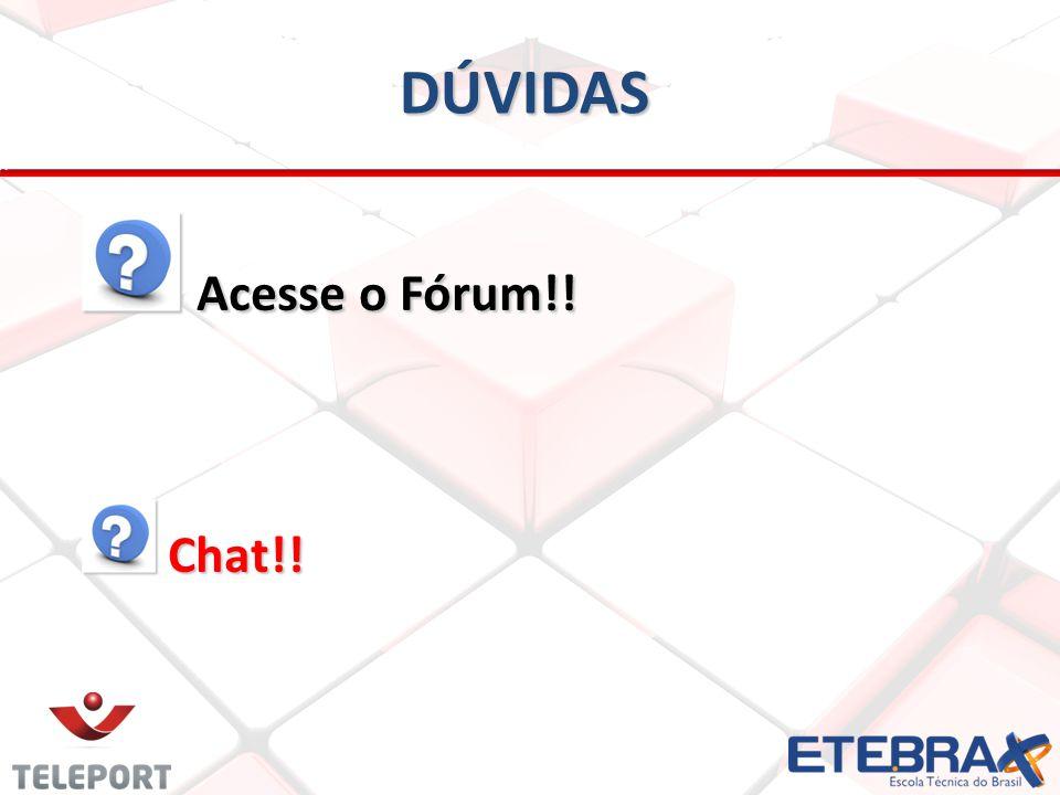DÚVIDAS Acesse o Fórum!! Chat!!