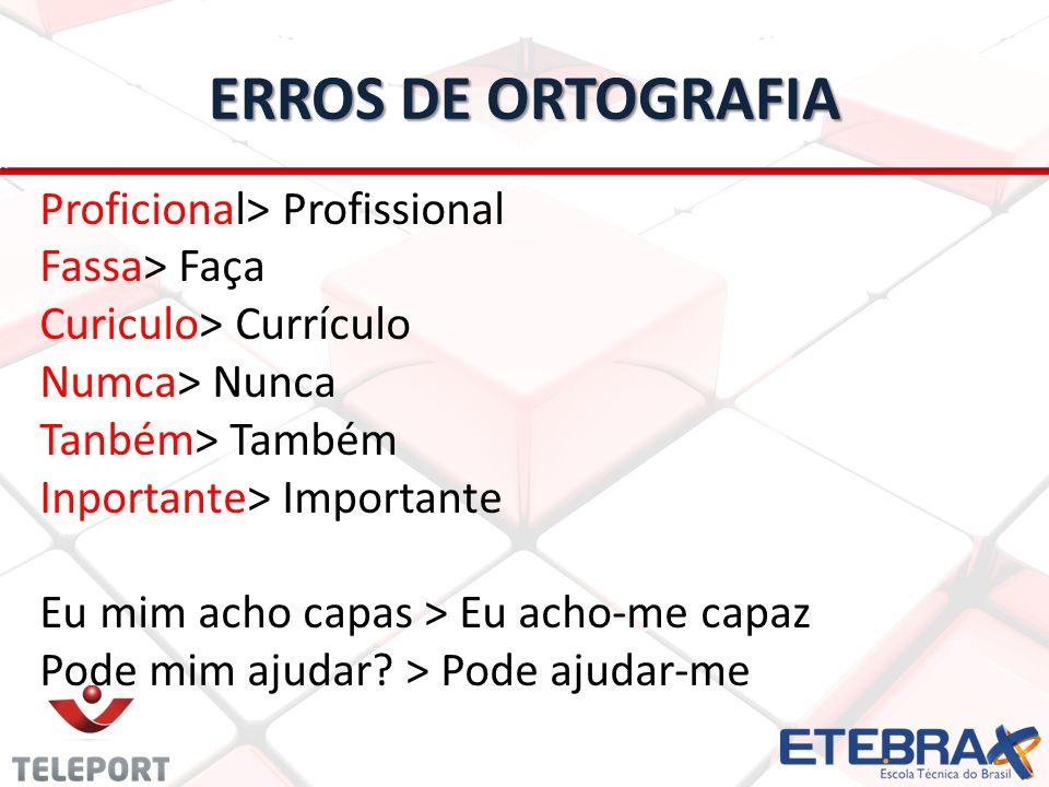 ERROS DE ORTOGRAFIA