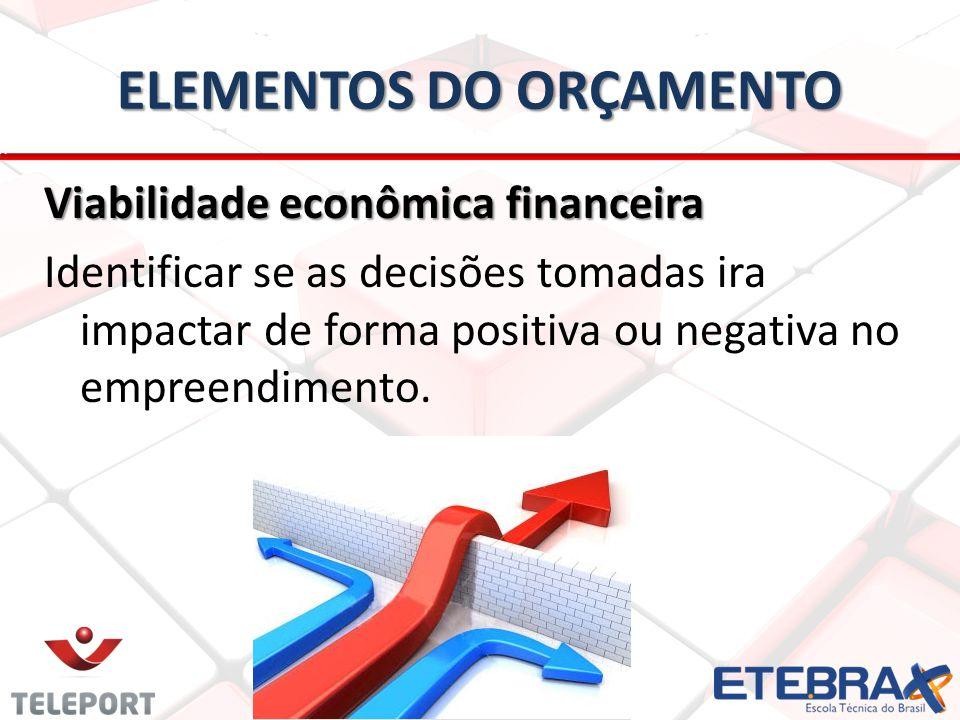 ELEMENTOS DO ORÇAMENTO