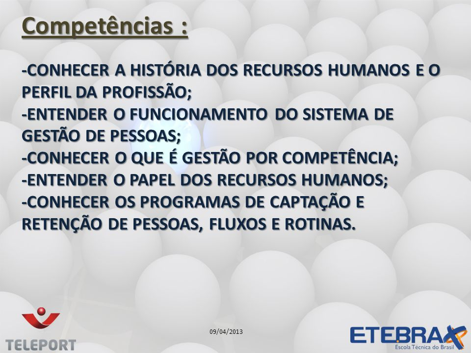 Competências :
