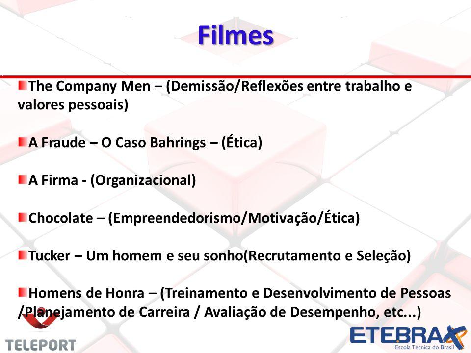 2020 Filmes. The Company Men – (Demissão/Reflexões entre trabalho e valores pessoais) A Fraude – O Caso Bahrings – (Ética)