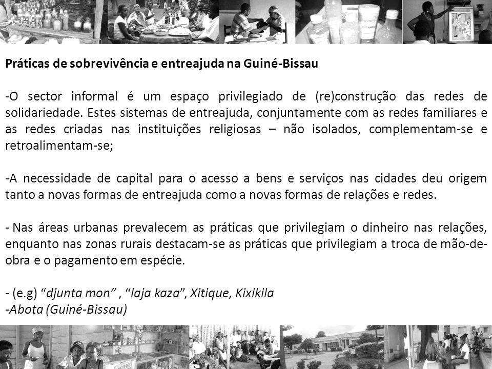 Práticas de sobrevivência e entreajuda na Guiné-Bissau