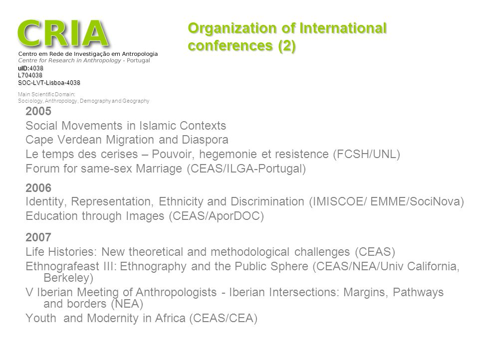 Organization of International conferences (2)