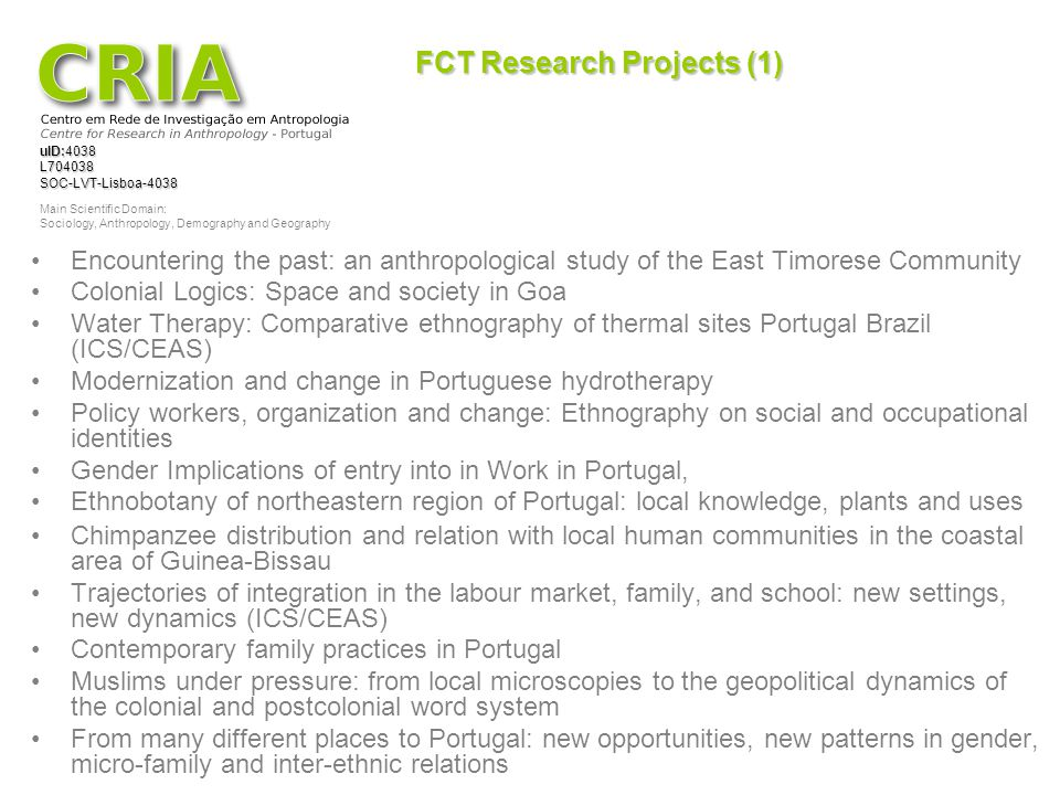 FCT Research Projects (1)