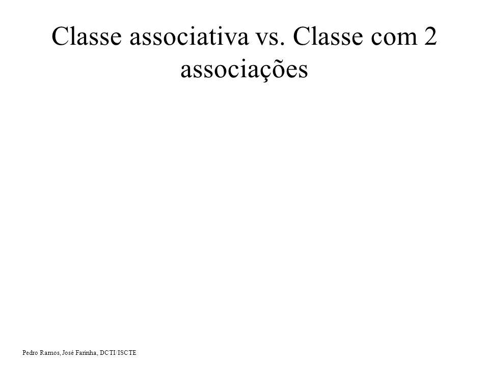 Classe associativa vs. Classe com 2 associações
