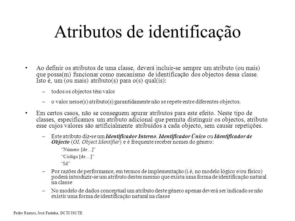 Atributos de identificação