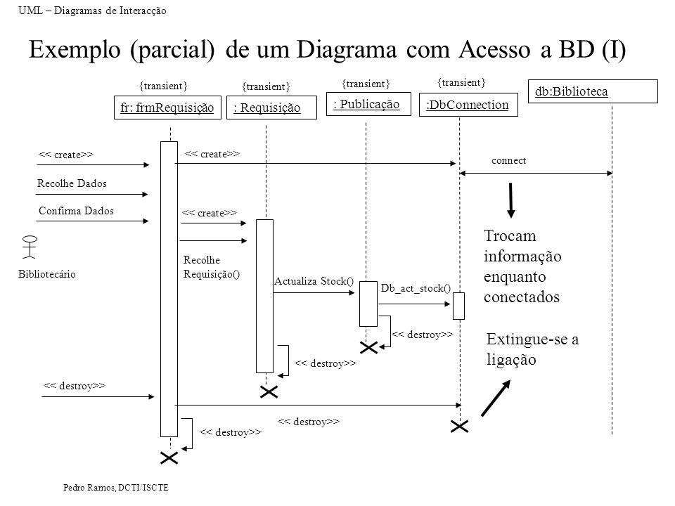 Exemplo (parcial) de um Diagrama com Acesso a BD (I)