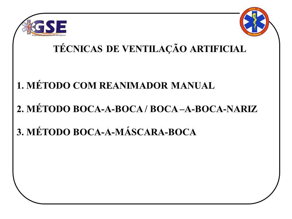 TÉCNICAS DE VENTILAÇÃO ARTIFICIAL