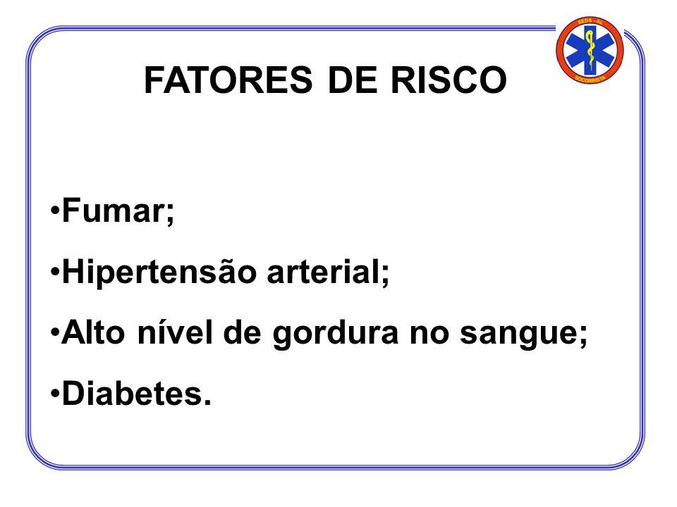 FATORES DE RISCO Fumar; Hipertensão arterial;