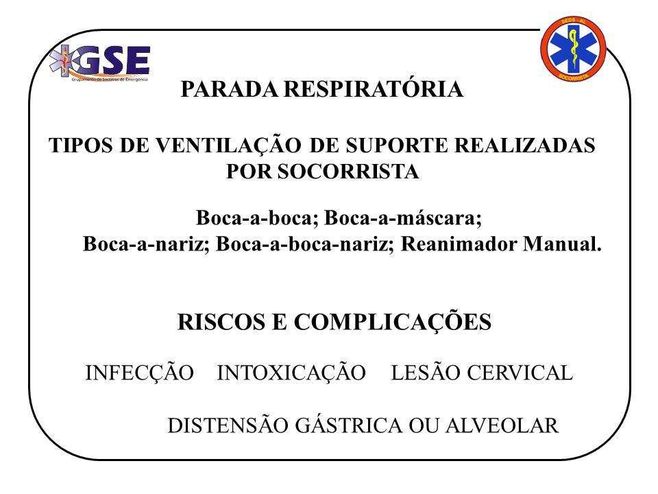 PARADA RESPIRATÓRIA RISCOS E COMPLICAÇÕES