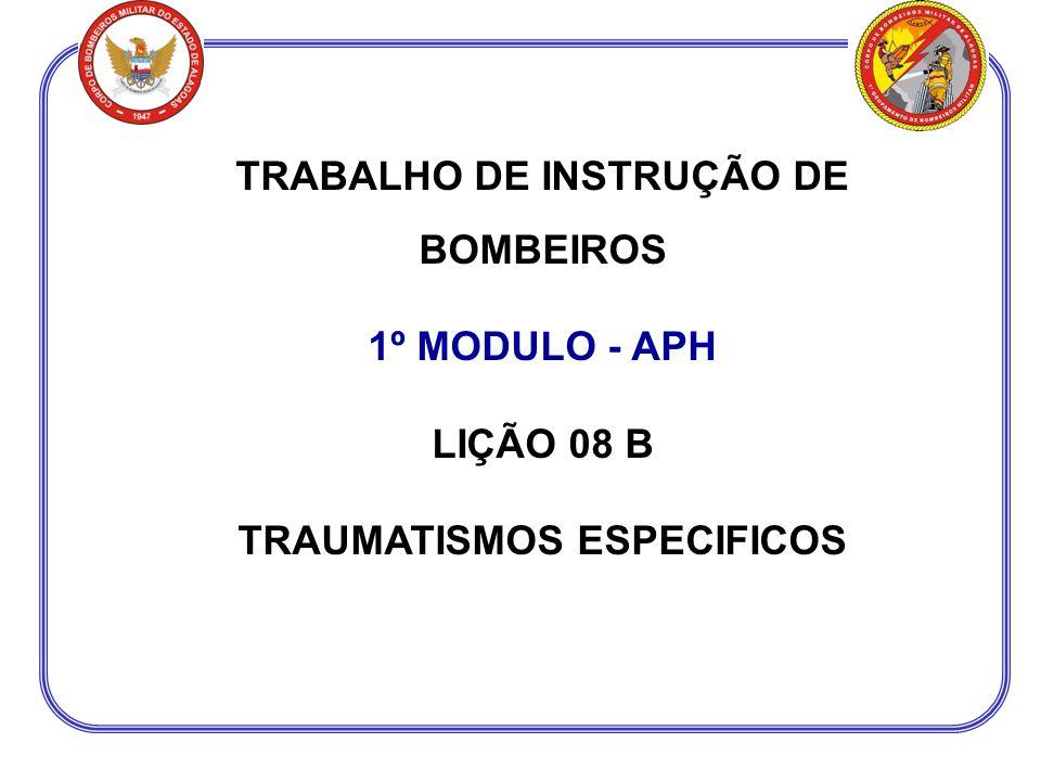 TRABALHO DE INSTRUÇÃO DE BOMBEIROS TRAUMATISMOS ESPECIFICOS