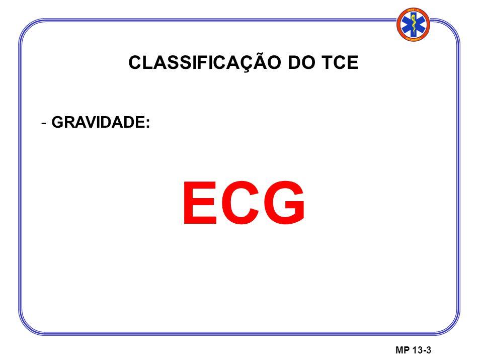 CLASSIFICAÇÃO DO TCE GRAVIDADE: ECG MP 13-3