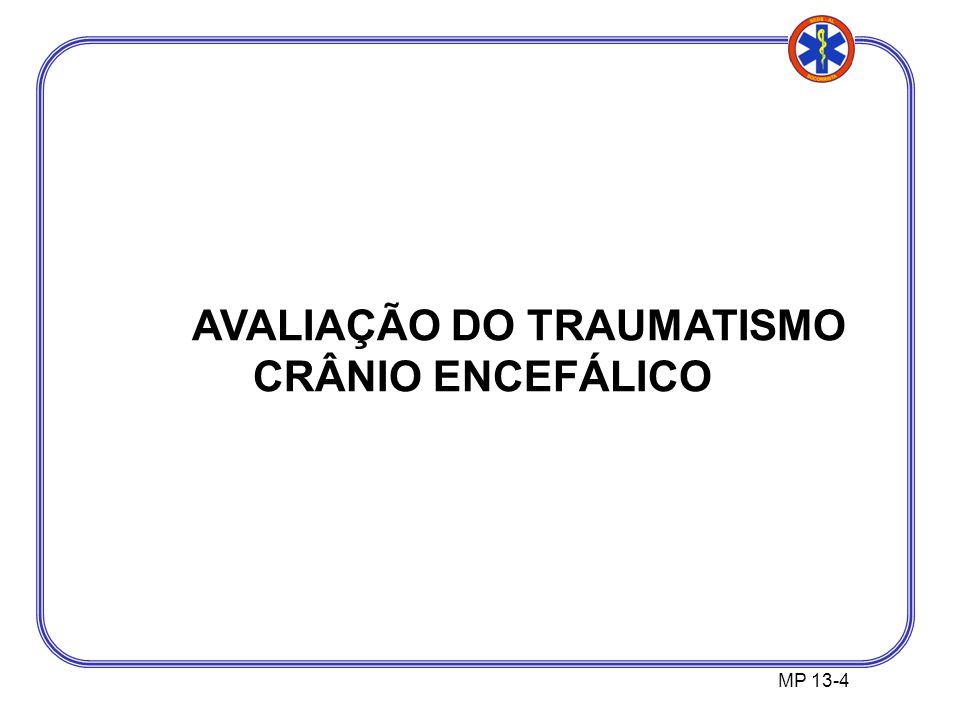 AVALIAÇÃO DO TRAUMATISMO CRÂNIO ENCEFÁLICO
