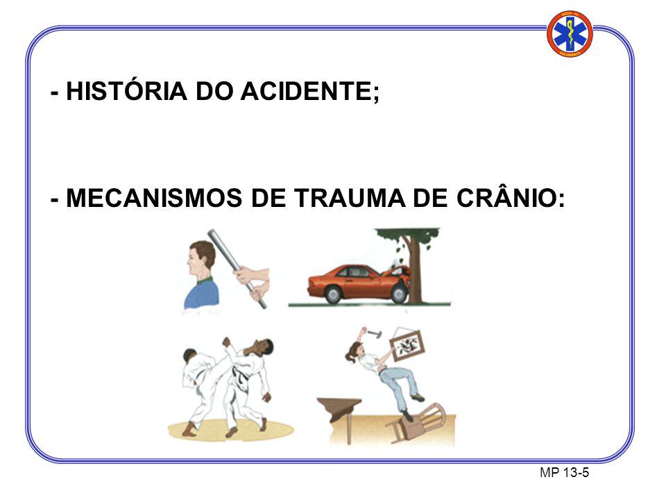 - HISTÓRIA DO ACIDENTE;