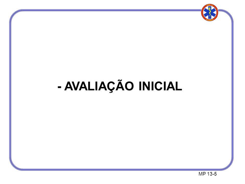 - AVALIAÇÃO INICIAL MP 13-5