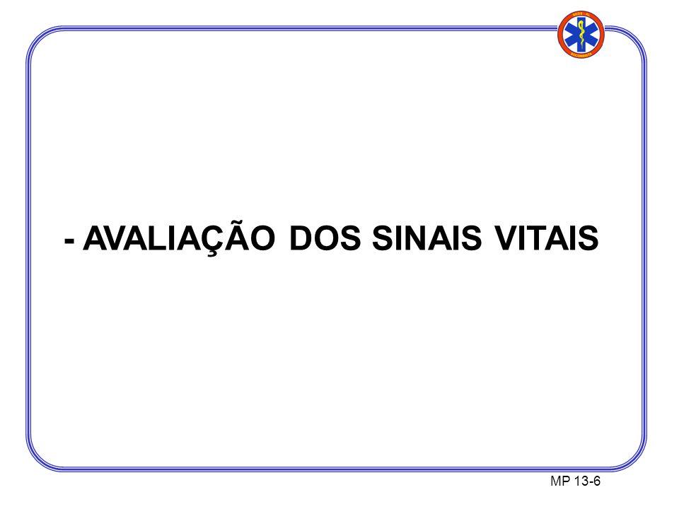 - AVALIAÇÃO DOS SINAIS VITAIS