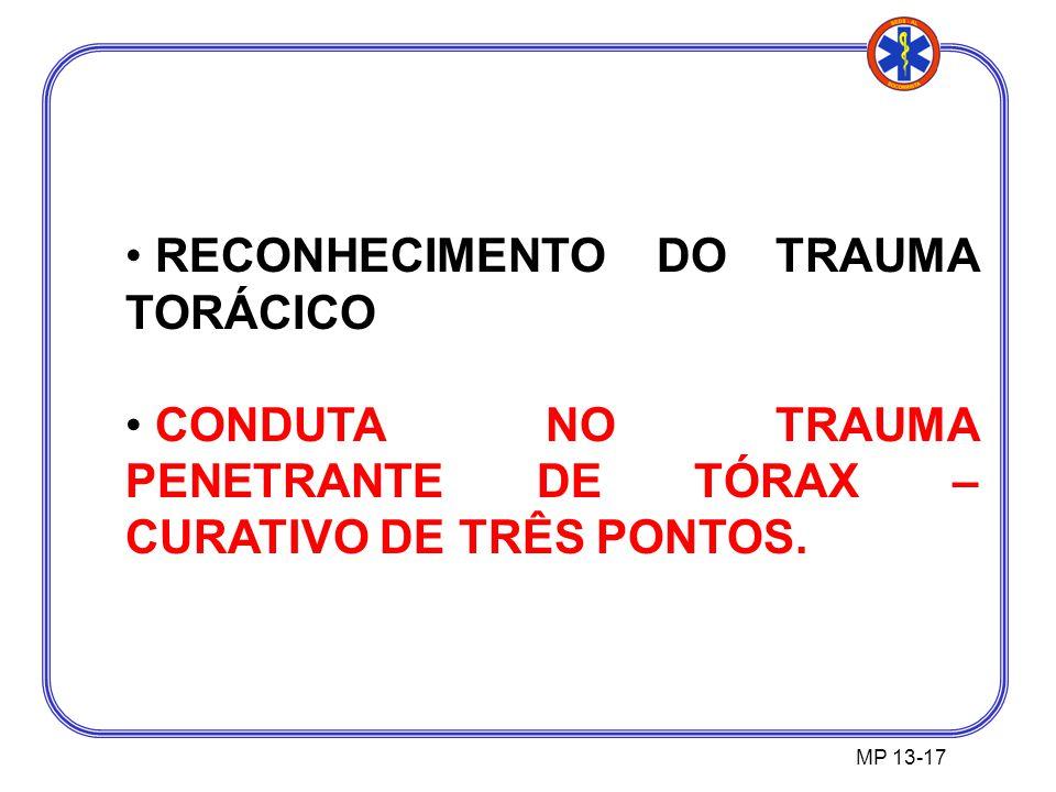 RECONHECIMENTO DO TRAUMA TORÁCICO