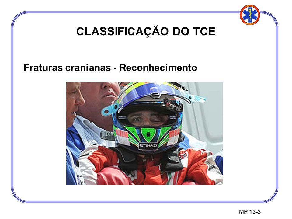 CLASSIFICAÇÃO DO TCE Fraturas cranianas - Reconhecimento MP 13-3