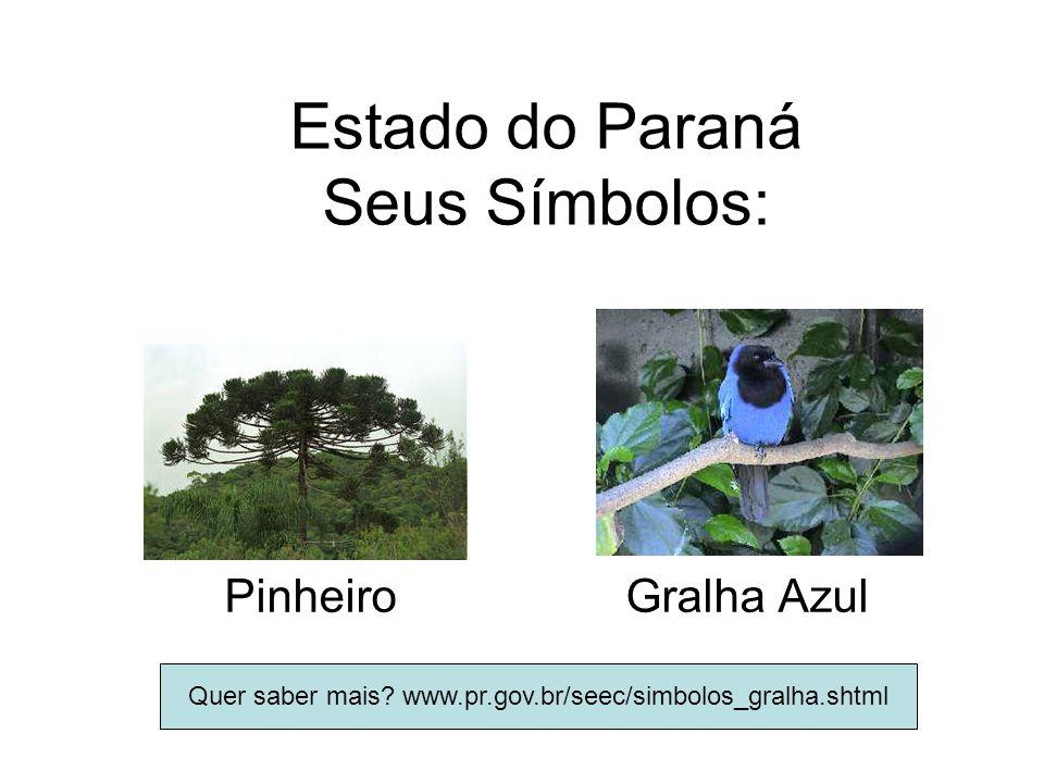 Estado do Paraná Seus Símbolos: