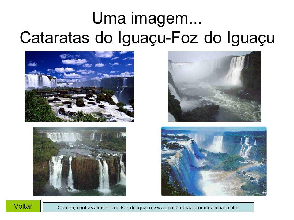 Uma imagem... Cataratas do Iguaçu-Foz do Iguaçu