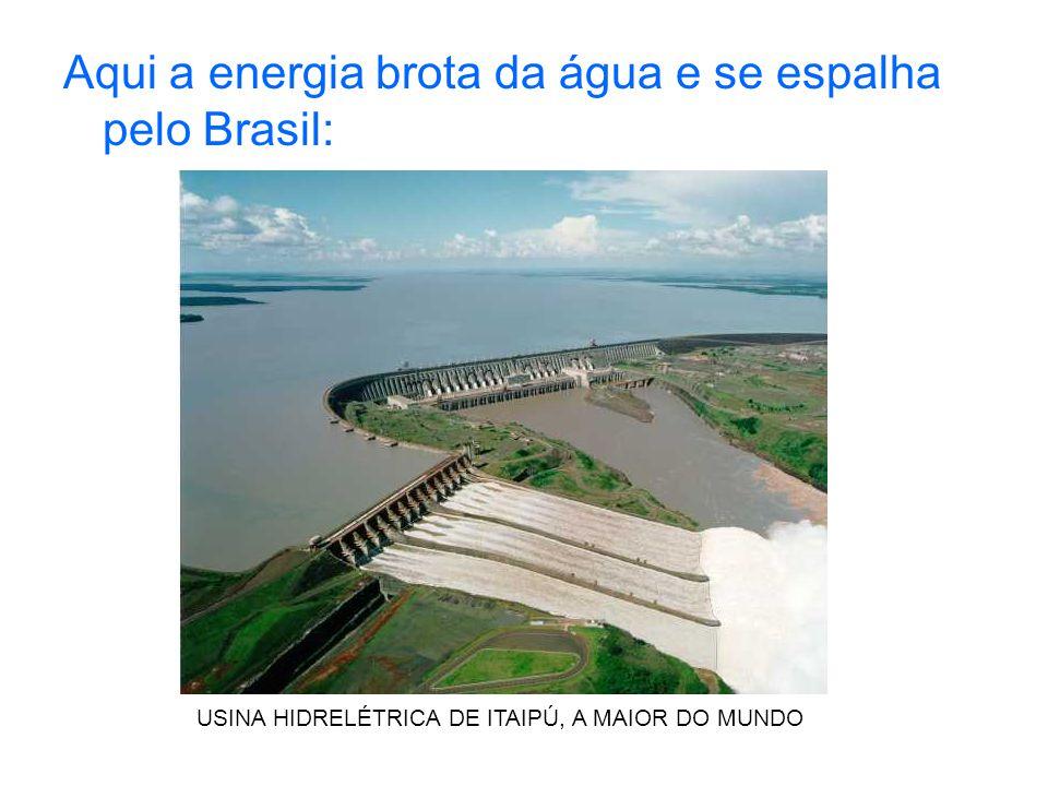 Aqui a energia brota da água e se espalha pelo Brasil: