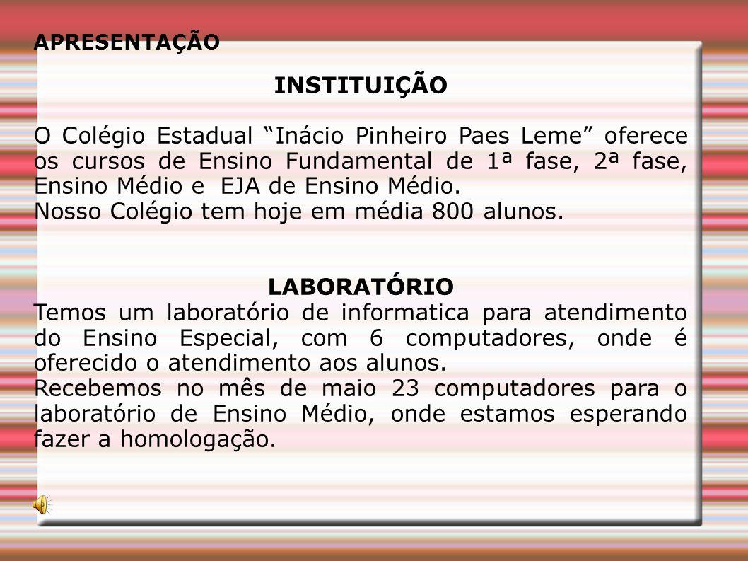 INSTITUIÇÃO LABORATÓRIO