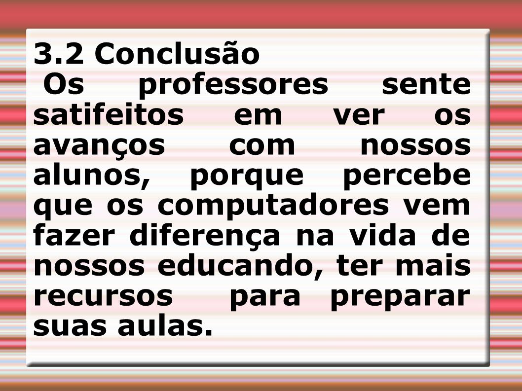 3.2 Conclusão