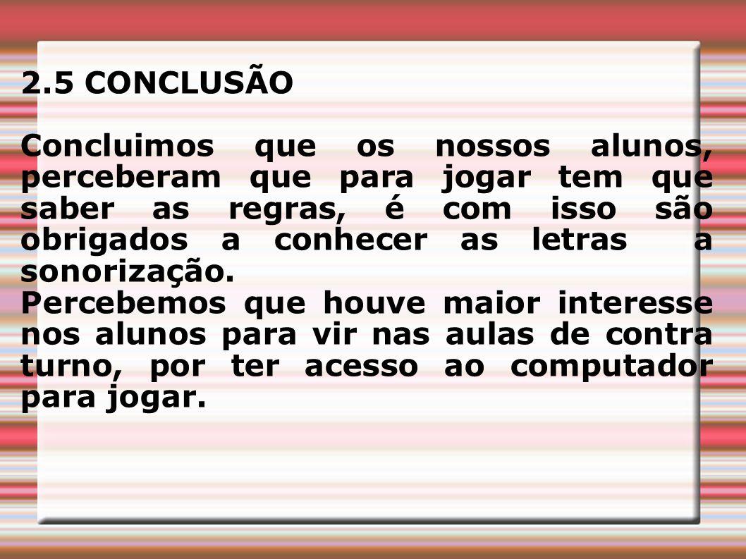 2.5 CONCLUSÃO
