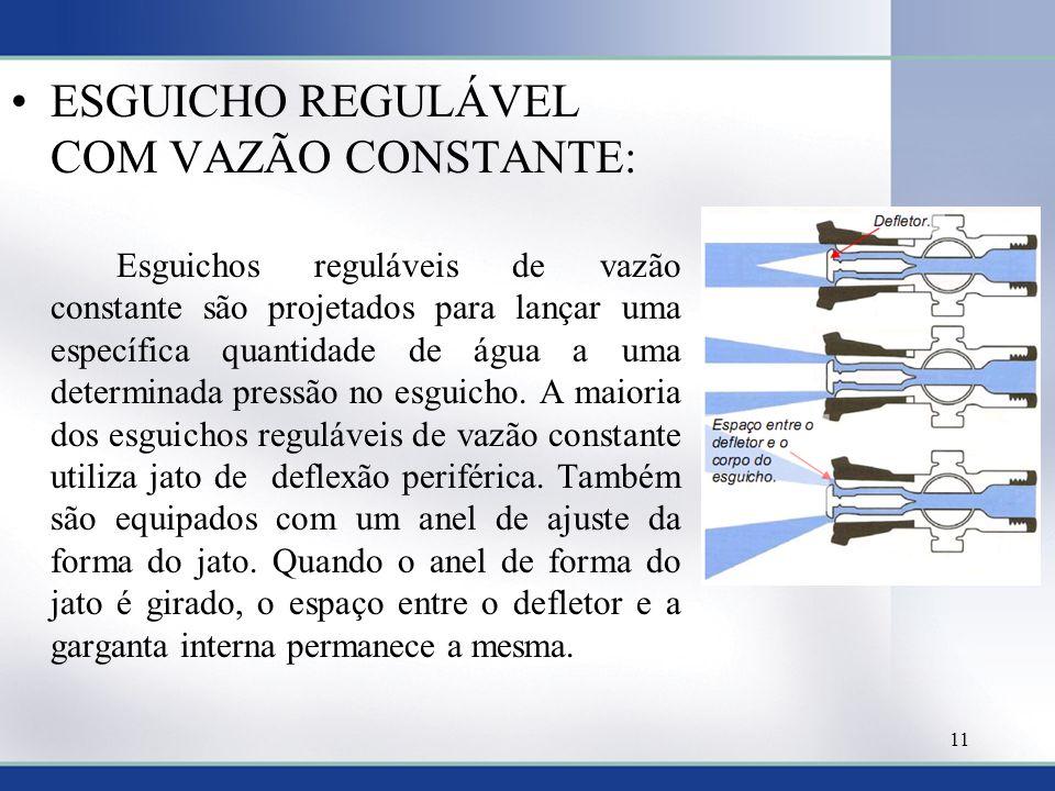 ESGUICHO REGULÁVEL COM VAZÃO CONSTANTE:
