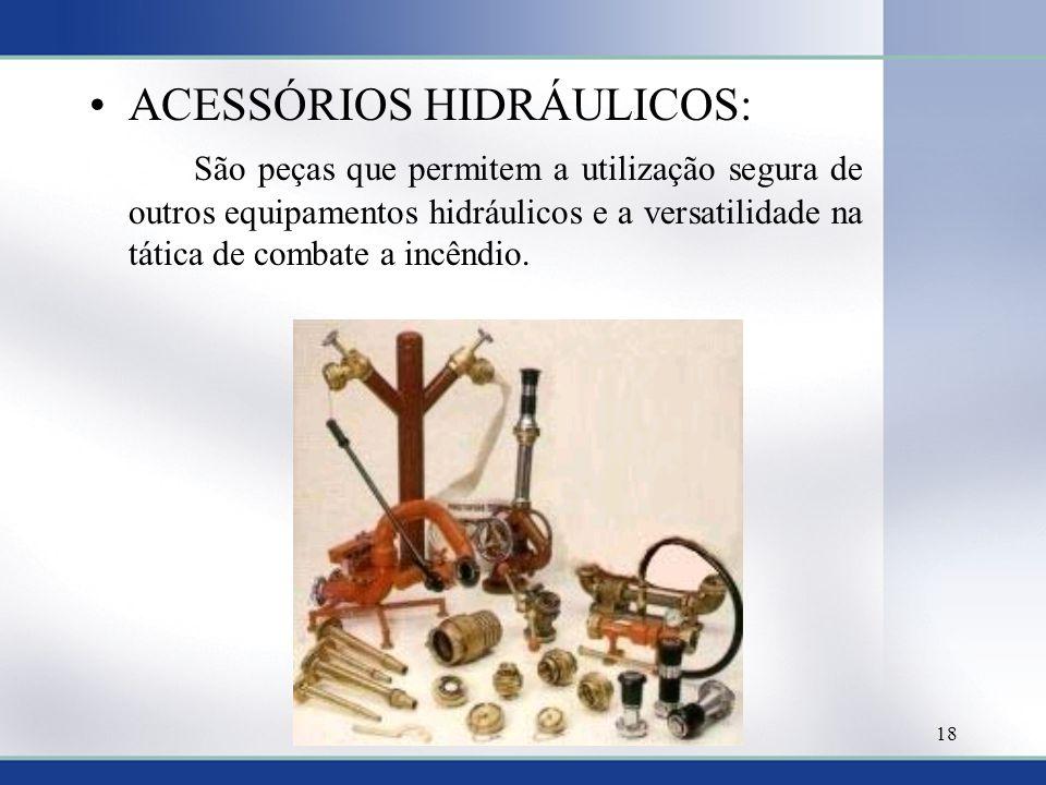 ACESSÓRIOS HIDRÁULICOS: